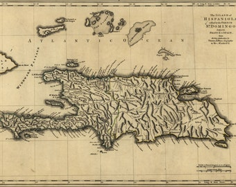 24x36 Poster; Map Of Island Of Hispaniola 1768