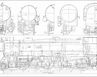 24x36 Poster; Usra Heavy Mikado Railroad Locomotive Train Diagram C1922