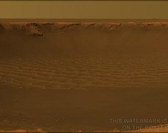 24x36 Poster; Victoria Crater Mars Rover Opportunity