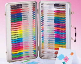 52-Pc. Gel Pens with Case for Scrap book