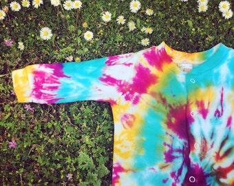 Baby Tie Dye Sleepsuit - Onesie - Babygrow