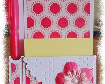 Desktop Notepad holder and its original paper pencil holder
