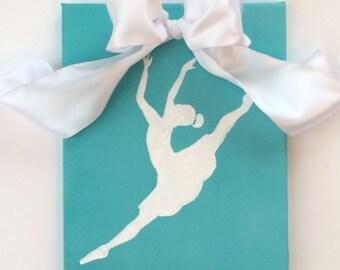 Ballet Art, Ballerina Art, Original Canvas Art, Girls Room Aqua, Dance Art, Dance Studio Art, Girls Rooms, Ballet Art, Childrens Wall Art