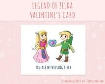 Legend of Zelda Valentine's Card - Printable Card, Greeting Cards, Love Card INSTANT DOWNLOAD