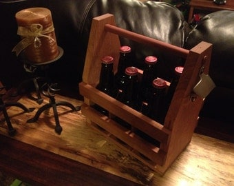 6 Pack Holder, Beer Holder, Bottle Holder, Wine Holder, Decorative, Gift/Groom/Bottle