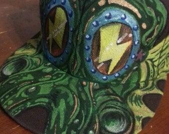 custom painted hat grateful dead beats antique floral