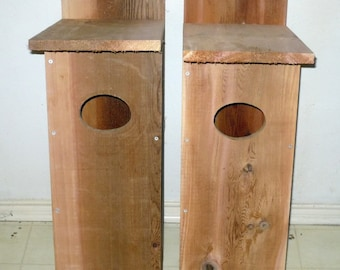 2 Brand New Duck Boxes, Bird Houses - Free Shipping