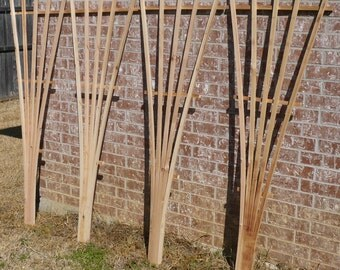 5 Brand New Tall Decorative Trellis pieces, Garden Lattice made from cedar wood