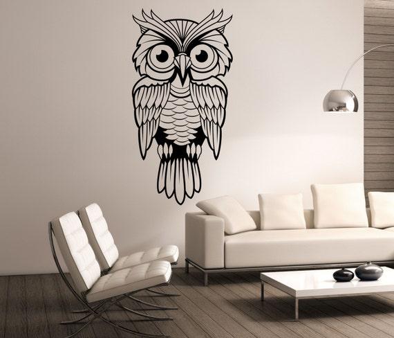 Owl Wall Decal Vinyl Sticker Art Decor Bedroom By