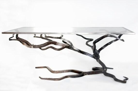 Glas Und Couchtisch Aus Metall Geschmiedet Sofa Tisch