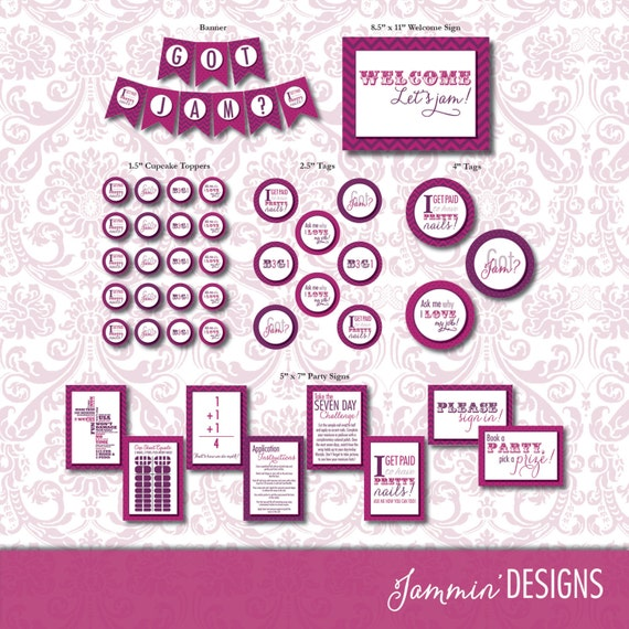 Printable Party Decor Package - INSTANT DOWNLOAD