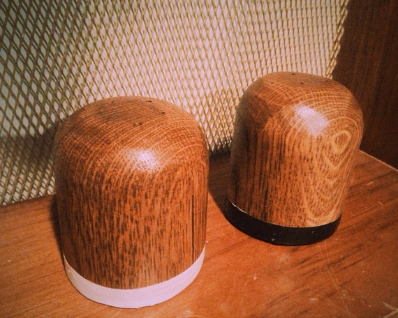Salt and Pepper shakers - Reclaimed Wood with optional writing/wood-burning
