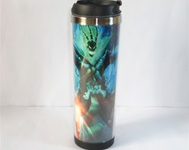New DIY Mug Creative Coffee Cup with LoL League of Legends Thresh Outdoor Water Cup Travel Mug Stainless Steel 18 CM 400 ML