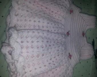 Rose Bud Newborn Halter Dress