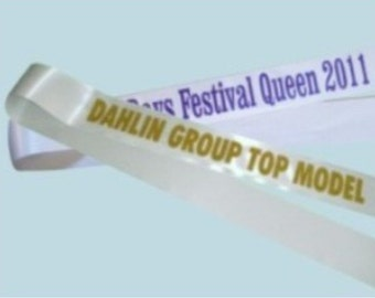 8 Custom sashes for your pageant - individual titles - Free shipping!