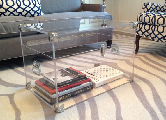 Lucite/Acrylic Trunk with Silver Hardware/Accents - Perfect for ...