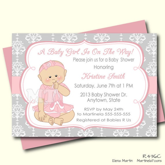 ballerina baby shower invitation tutu baby shower invite pink and