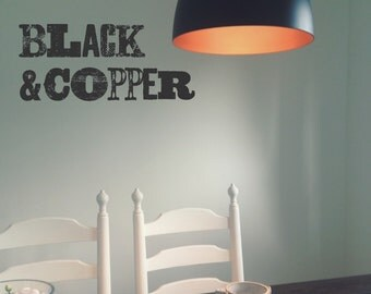 Beautiful pendant lampshade by BlackandCopper (just the lamp shade no light fitting)