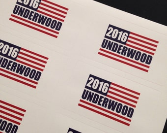 House of Cards Stickers (2016 UNDERWOOD)