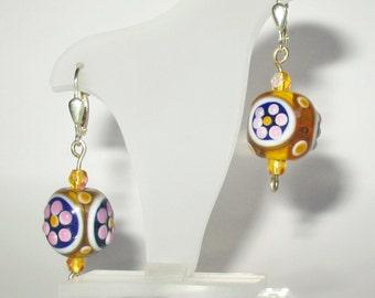 Beautiful 925 Sterling Silver Earrings, Pearls Mirafiori and cristal.