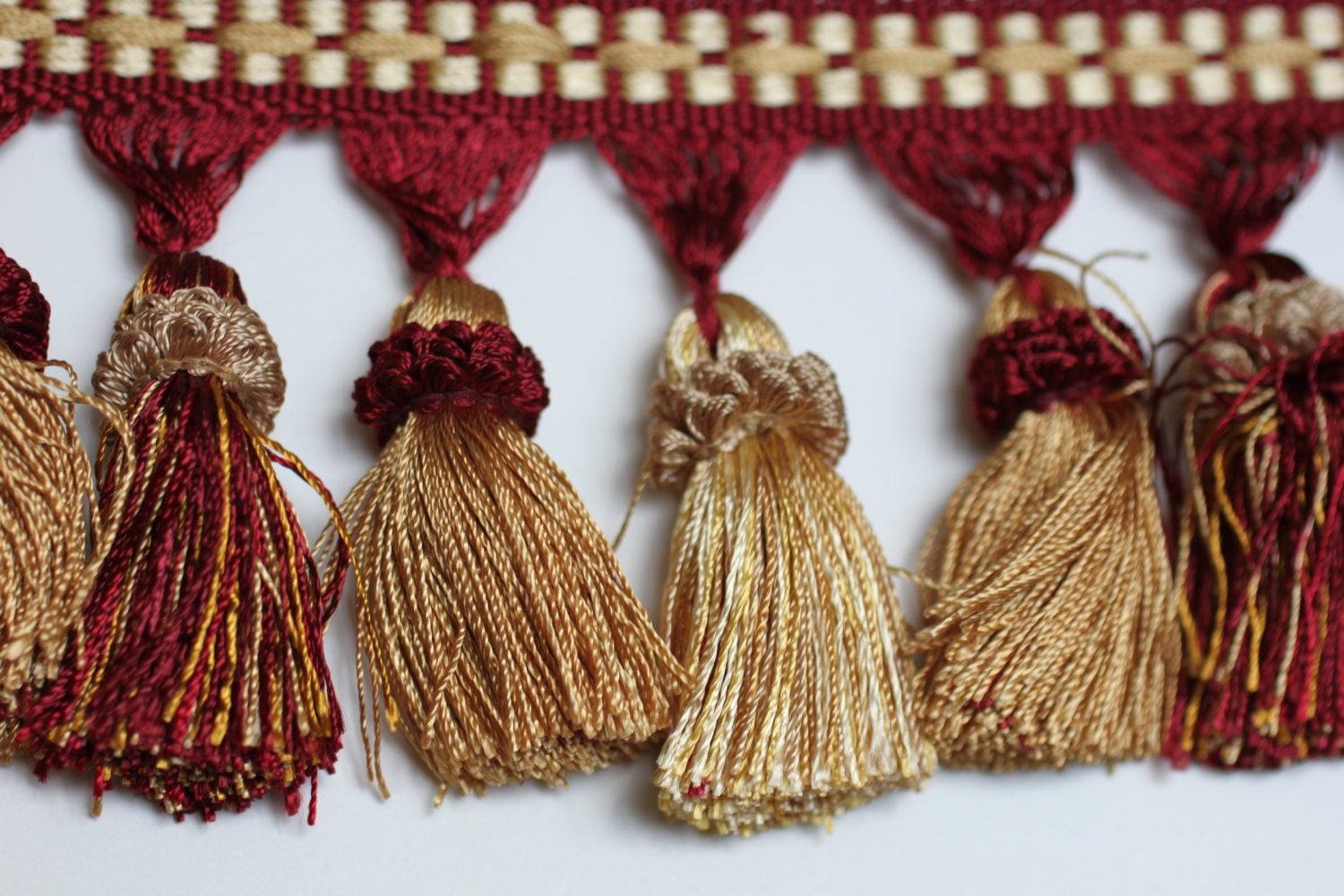 trim tassel fringe burg gold home decor tassels by fabricbuzz home accessory leather leather tassel brown leather