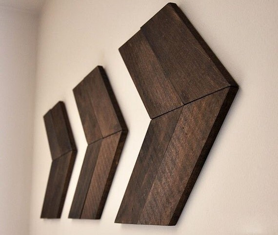 Chevron Style Wood Arrows Nursery Decor Home Decor Set