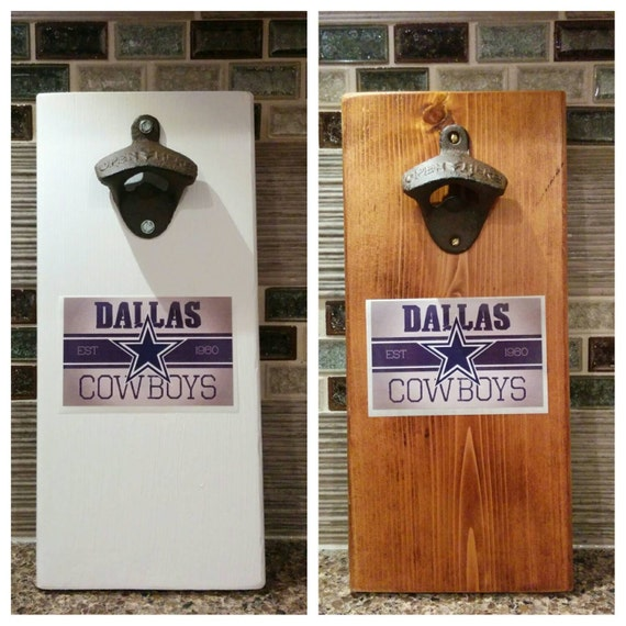 Dallas Cowboys Lit Bottle Opener Cap: Dallas Cowboys Magnetic Bottle Opener With By