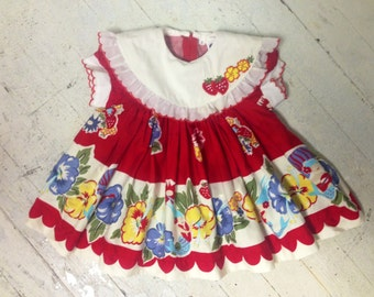 Brightly Colored Vintage Baby Girl S Dress