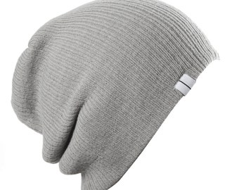 Slouch Beanie Slouchy Skull Hat Ski Hat Snowboard Hat Ribbed Beanie Oversize Beanie Three Styles in One Beanie: Wear it Slouch, Folded or Up