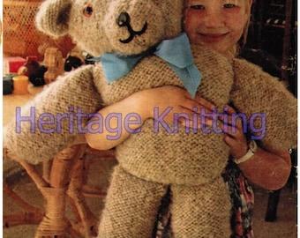 big teddy toy knitting pattern 99p