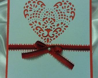 red/white valentine's Heart