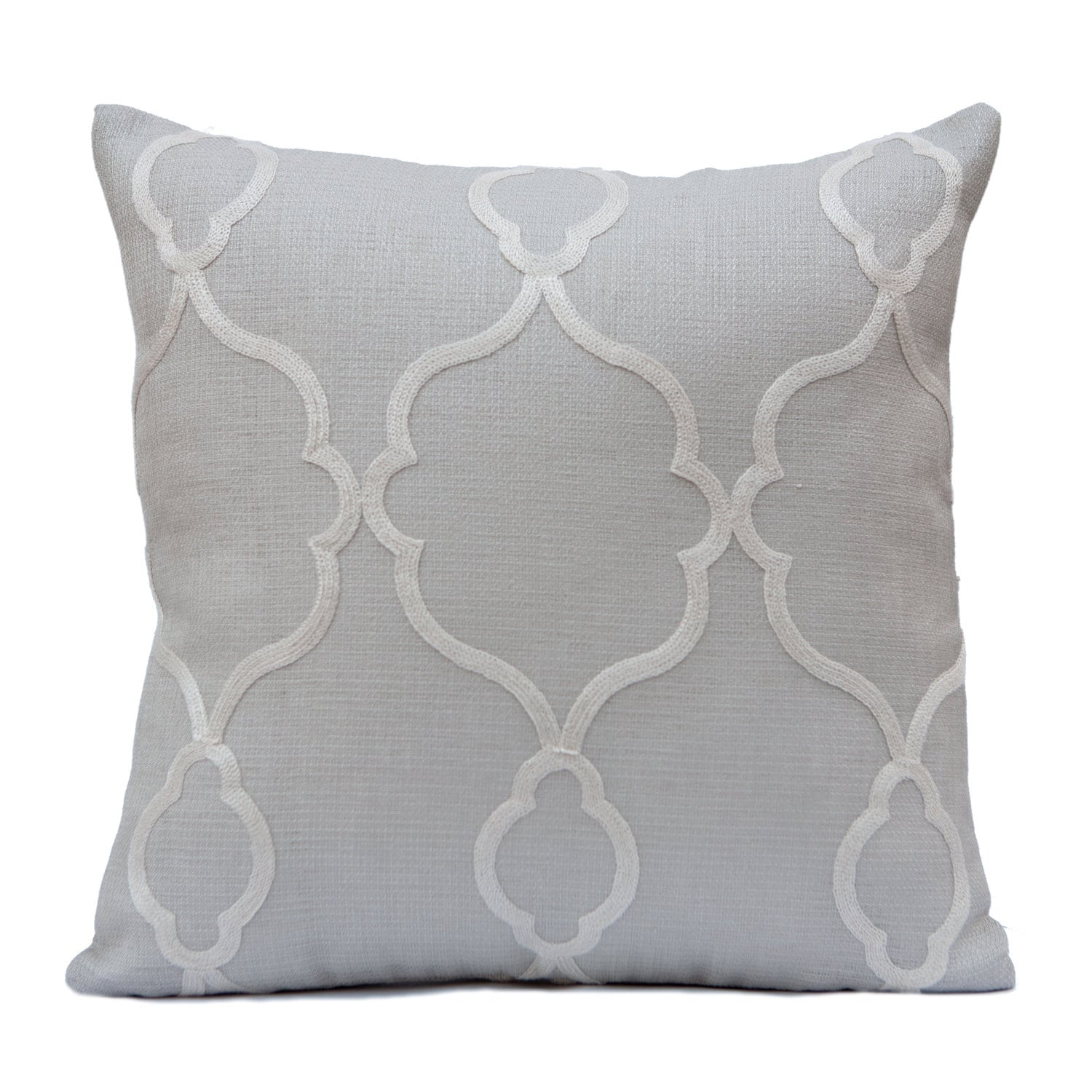 Light Grey Pillow Throw Pillow Cover Decorative Pillow