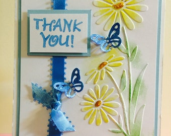 Thank You, Handmade, Greeting Card,