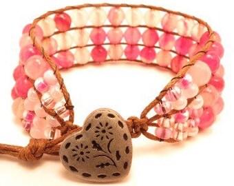 Pretty Pink Cuff Bracelet