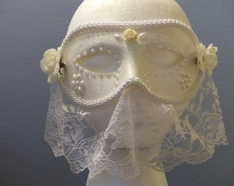 Wedding Veil Masquerade Mask