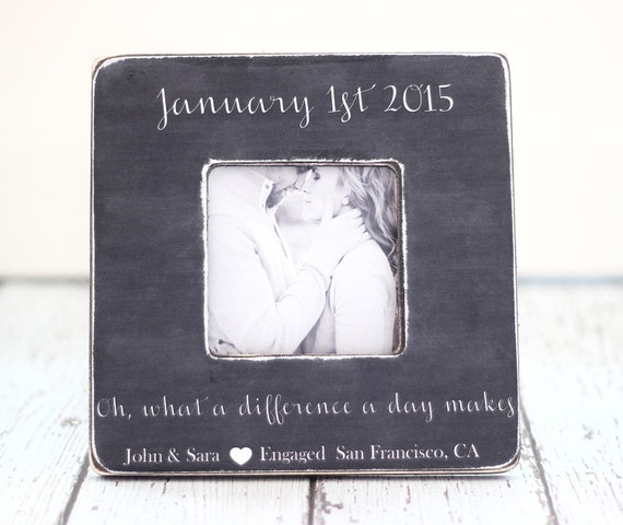 A Wedding Gift Movie : Engagement Wedding Gift Personalized Picture Frame What a Difference a ...