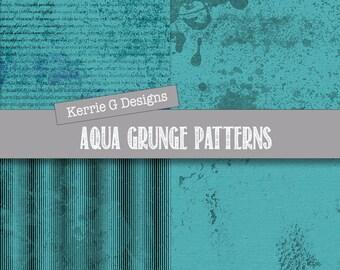 Aqua Instant Downloads - Aqua Instant Download Paper  - Aqua Paper Downloads
