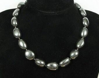 Necklace Hematite 20mm Nuggets 925 Mirror Shine NSHM2387