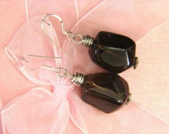 Earrings Smokey Quartz 18mm Facet Chunks 925 ESSQ1849