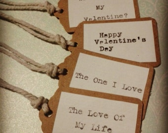 Handmade Valentine's Day Gift Tags