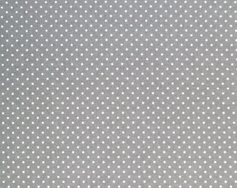 GREY POLKA DOT fabric,cotton fabric,dotted fabric,grey fabric,mini dots,supplies,extra wide fabric,fabric by half yard,yard,euro fabric