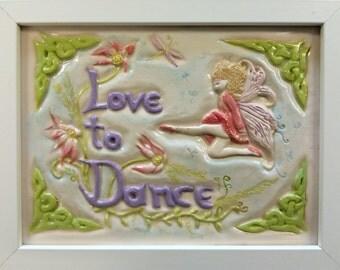 Handcrafted Irish Dancer Ceramic Plaque