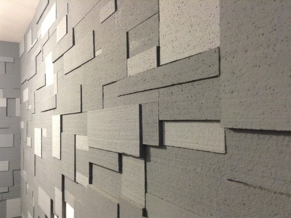 Styrofoam Wall Panels : Items similar to styrofoam brick wall panels on etsy