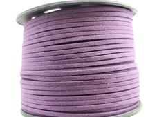 purple faux suede cord, suede cord, flat suede cord, cord for bracelet making, jewelry supplies, vegan suede cord, vegan jewelry supplies