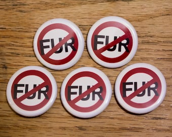 No Fur 5pk Buttons