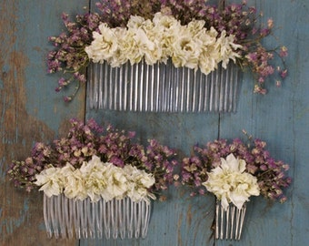 Boho Romance Dried Flower Hair Comb