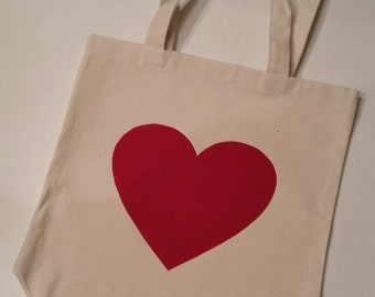Red Velvet Heart Tote