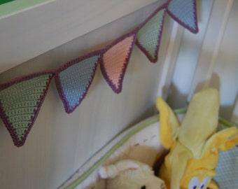Crochet Baby Pennant / Triangle Garland pattern