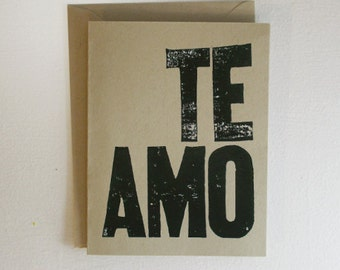 Te Amo Card (I Love You)