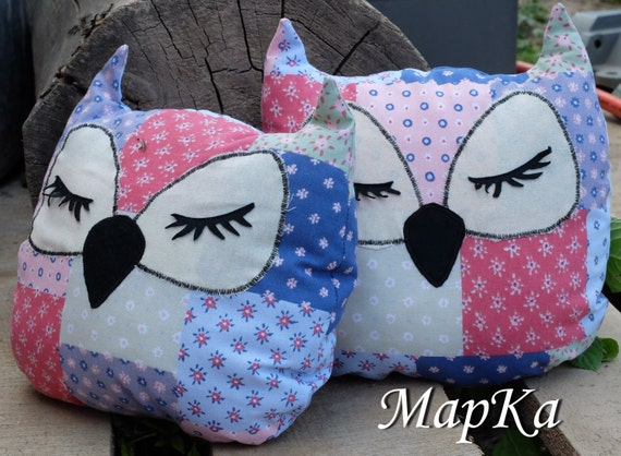 items similar to the owl pillow on etsy